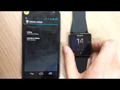 Video of Calendar for SmartWatch 2