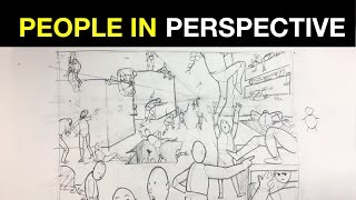 Tips On How To Draw People In Perspective Part 1 | Multiple Figures