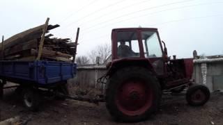 Частный дом - ремонт день #108 Застрял трактор с прицепом