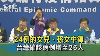 【TVBS新聞精華】20200219 24例的女兒、孫女中鏢 台灣確診病例增至26人