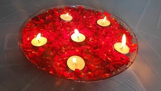 Diy Floating Candles || Water Candles Decoration Ideas|| Water Candles