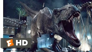 Jurassic World (2015) T-Rex vs. Indominus Scene (9/10) | Movieclips - dooclip.me