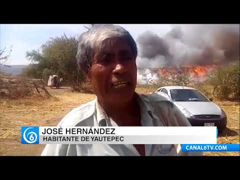 Este fin de semana un incendio consumió el basurero municipal de Yautepec, Morelos
