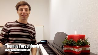 Klavier lernen: Weihnachtslieder - Rudolph the red-nosed reindeer - Christmas Piano Tutorial