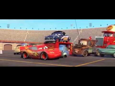 Cars Pit Stop Scene But Every Time LIGHTNING McQUEEN Blinks It Gets Faster With Pit Stop In Slo-mo
