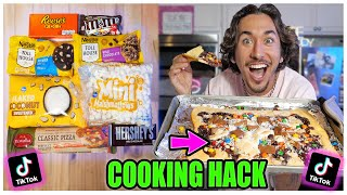 We TASTED Viral TikTok Cooking Life Hacks... (CHOCOLATE PIZZA?!?) *Part 16*