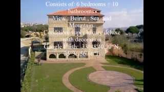 preview picture of video 'Villa Aley-Lebanon / Facing Prince of Qatar Castle.'