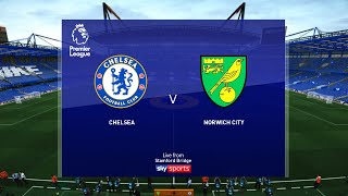 Chelsea vs Norwich City - 14 July 2020 Gameplay