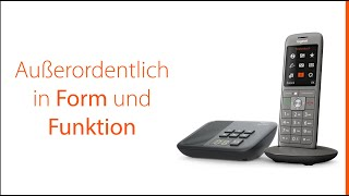 Gigaset CL660A - DECT-Telefon und Anrufbeantworter flexibel positionieren.