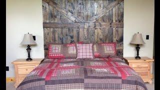 Rustic Barn Door Headboard | Reclaimed Barn Wood | Easy DIY