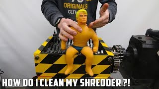 High Pressure Washing the Shredder after Shredding Stretch Armstrong - Video Youtube
