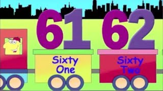 Learning Numbers, Learn Counting with number train, 61 to 70, for kids