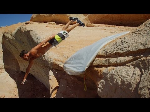 Cliff Slip And Slide! 50 Feet! In 4K!