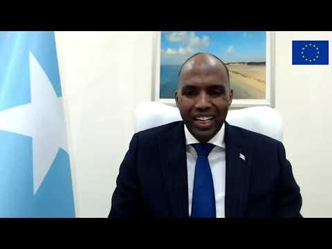 Speeches by Ambassador Nicolas Berlanga and Prime Minister Hassan Ali Khaire.