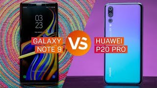 Galaxy Note 9 vs. Huawei P20 Pro: Guerra de cámaras