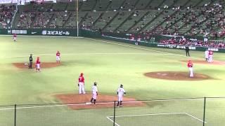 鬼崎裕司大瀬良-石原バッテリから3盗成功20140319