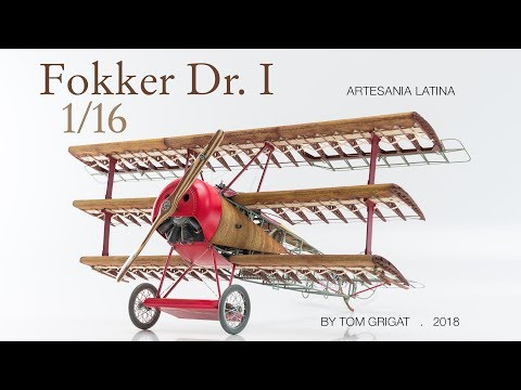 Red Baron's famous triplane. Stop motion animation built. The most impressive model Ive ever seen
