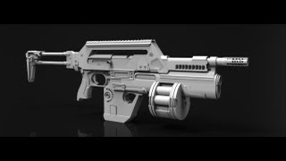 Gambar cover M41A Pulse Rifle Zbrush timelapse