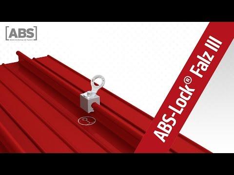Kompakte Video-Präsentation zum Anschlagpunkt ABS-Lock Falz III.