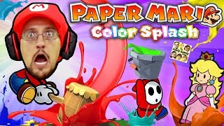 PAPER MARIO COLOR SPLASH SMASH (Should We Play Again or NO WAY!?) - FGTEEV WiiU Level 1 Introduction