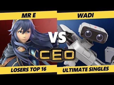 CEO 2019 SSBU - Demise | Mr E (Lucina) Vs. WaDi (ROB) Smash Ultimate Tournament Losers Top 16