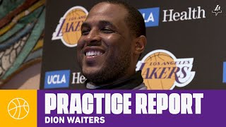 Dion Waiters Talks About Getting Acclimated To The Team | Lakers Practice