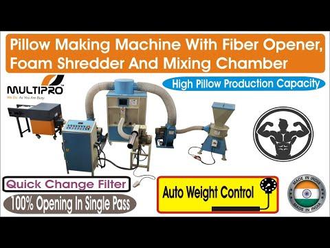 Multipro Fiber & Foam Carding, Mixing & Filling Machine (60 Kg/Hr) For Sofa, Cushion, Pillow