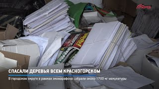 Спасали деревья всем Красногорском