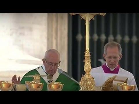 Messe du Jubilé marial célébrée par le Pape François et Angélus