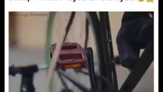 Cheap thrills played on a bicycle