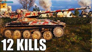 РЫЖИЙ СПЕЦНАЗ 12 ФРАГОВ 🌟 AMX 12 t World of Tanks