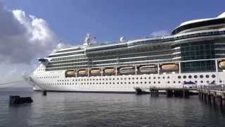 preview picture of video 'Roseau, Dominica - Jewel of the Seas at Dock HD (2015)'