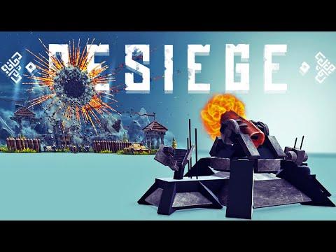 Destroying Castles With The Most Destructive Projectile Weapon - Besiege Best Creations