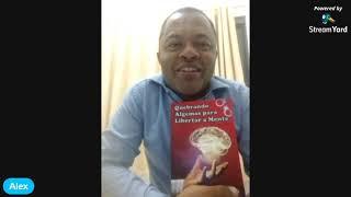 Escritor Alex, lança livro contemplado pela lei Aldir Blanc.