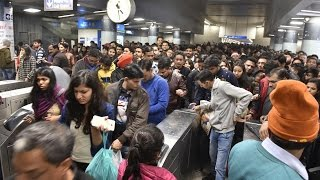 Chaos In Delhi Due To Blue Line Metro Technical Snag In Morning