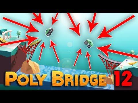 DVOJITÝ MONSTER SKOK | Poly Bridge #12 | Pedro