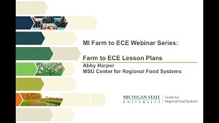 Farm to Early Care and Education Webinar Series: Farm to ECE Lesson Plans