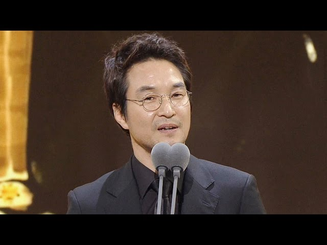 Han Suk Kyu, 한석규, 영예의 대상 '검은 도화지' 특별한 수상소감 @2016 SAF 연기대상 1부 20161231