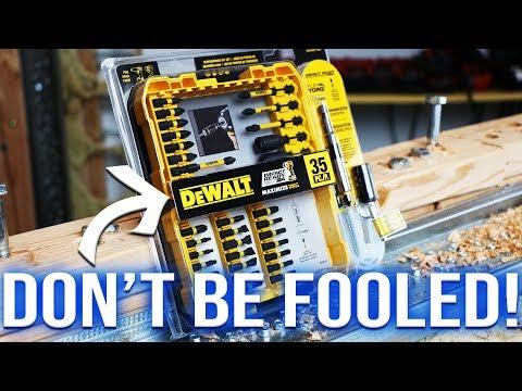 DeWALT Tools Flex Torq Bit Set - WATCH BEFORE YOU BUY!!