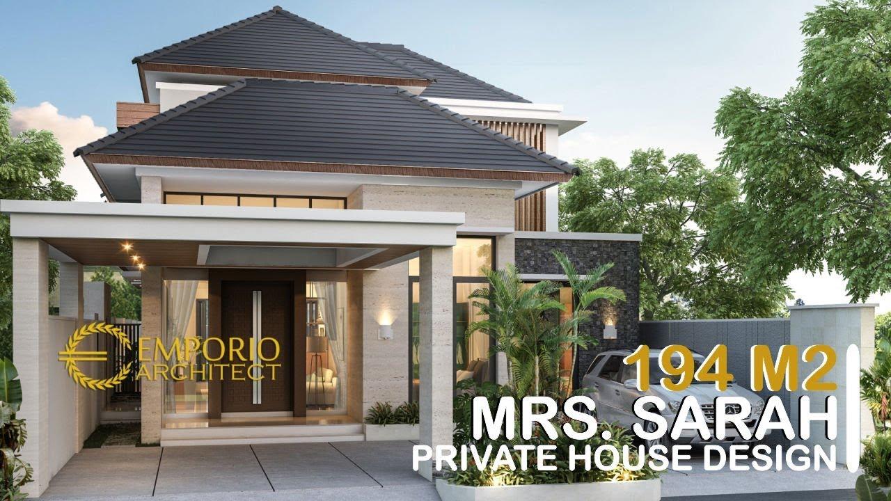 Video 3D Desain Rumah Modern 2 Lantai Ibu Sarah di Bogor