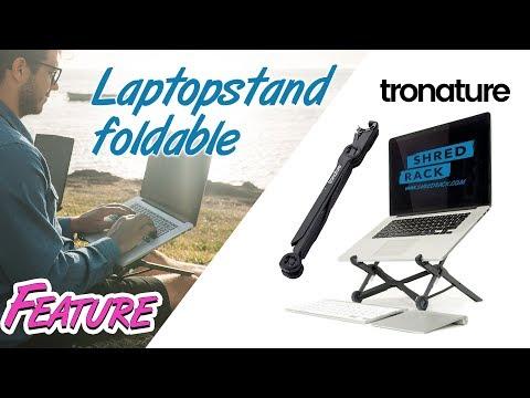 Faltbarer Laptopständer - ergonomisch arbeiten ideal auch für Unterwegs