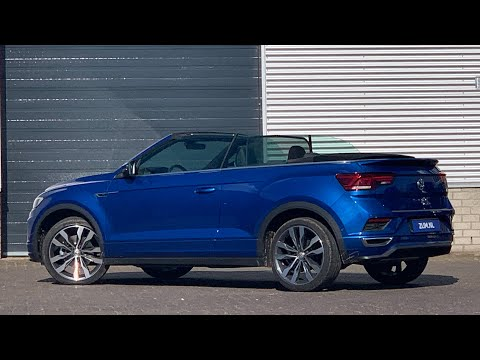 Volkswagen NEW T-roc R-line 2020 in 4K Convertible 19 inch Suzuka walk around & detail inside