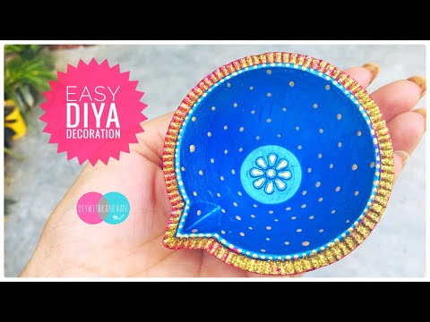 Easy Diya decoration