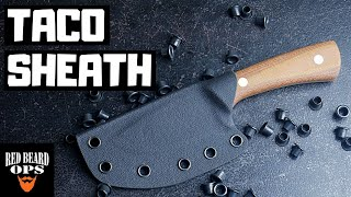 How To Make A Kydex Sheath Taco Style | Knife Making
