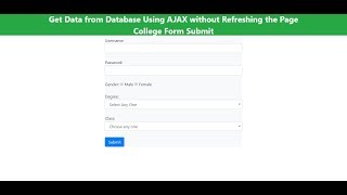 AJAX tutorial in Hindi Part 5: Get data from a database without refreshing the page using AJAX Hindi