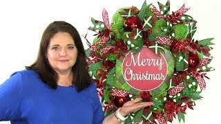 How To Deco Mesh Christmas Wreath - Preview July Wreath Making Of The Month Club