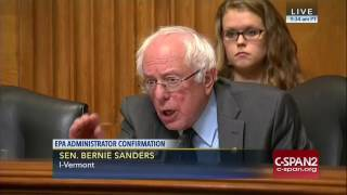 U.S. Senate Sanders, Pruitt on climate change