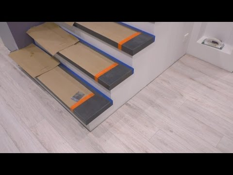 Качественный монтаж деревянных ступеней на бетонное основание!