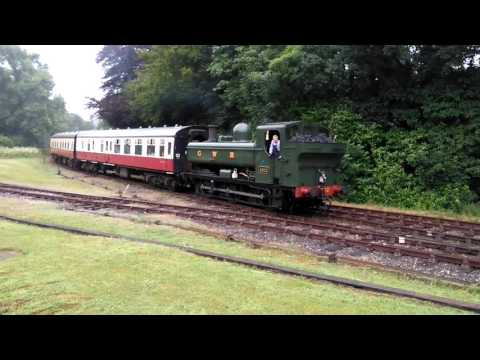GWR Pannier Tank 4612 arrives at Bodmin Parkway 27th July 20…