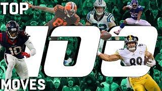 Top 100 Moves (Jukes, Stiff Arms, & Hurdles) of the 2018 Season!   NFL Highlights